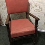 Pair of 19th century uniquely carved chairs made from 17thcentury pieces. £300 each.