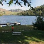 Beautiful lake and spacious campground
