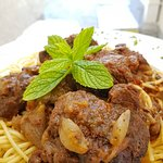 Traditional Beef in tomato sauce with pasta