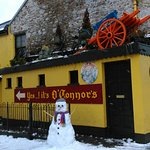 Yes, occasionally it also snows in Galway! Here's a snowman at O'Connors Pub, Salthill