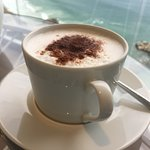 Cappuccino on the terrace in the Grand Club.