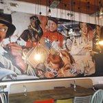 Inside 7IMEIO restaurant, Olhao, Portugal.