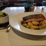 I order salmon as the main dish and a side dish (vegetable)