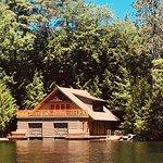 A Gorgeous boat house on Squam Lake