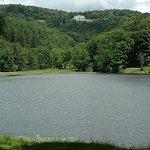 Looking at Cone Manor above Bass Lake
