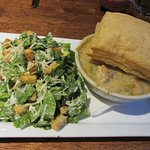 Blue Angel Cafe - Chicken Pot Pie with Caesar Salad