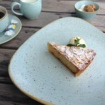 Apricot Bakewell Tart and Clotted Cream