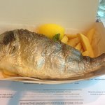 Baked Sea Bream and Chips
