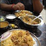 my double single mutton biryani with my friend