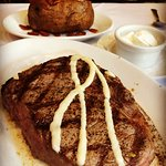 10 ounce Ribeye Medium-Rare with Baked Potato