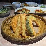 Appetizer assorted tempura.