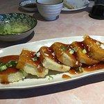 Appetizer agedashi tofu.