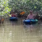Our friends Randy and Rachael in the mangroves