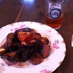 Steak and potatoes fried in duck fat