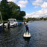 Paddle boarding down the stour