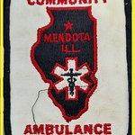 My EMT patch from my earlier days as volunteer ambulance worker and chaplain. Charter member.