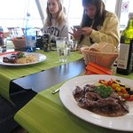 I had venison stew and vegetables. Others in our group had local meats.