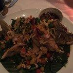 Delicious food in beautiful restaurant!