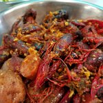 Spicy Crawfish Mix with potatoes and sausage