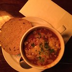 chilli bean stew with home made bread ,