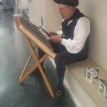 This gentleman was playing the Hammered Dulcimer and was very good at it to the point we purchas