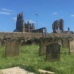 abbey from gravyard
