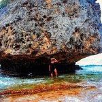 Bathsheba beach. Mushroom rock. Danni.
