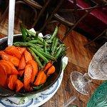 Whiskey Glazed Carrots and Blistered Green Beans