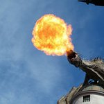 Dragon at Escape from Gringotts
