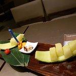 Dessert taken in the Sake Bar