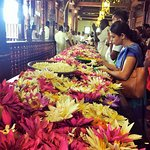 Pilgrims at Temple of sacred tooth Kandy