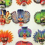 The southern coastal town of Ambalangoda is famous for its mask and puppet making....