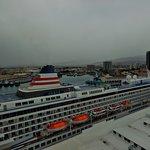 Cruise liner alongside the dock