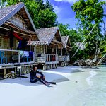 A homestay next to Byuk Bea in Kri, Raja Ampat