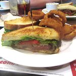 Club Sandwich and Onion Rings, Sage Cafe, Lakeside, Ca