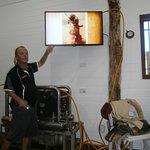 Video presentation, woolens and modern air pumping equipment.