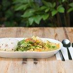 Menü Gäng Kioaowan (Grünes Curry) mit Tofu
