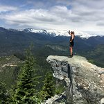 Looking out over to Tantalus Mountains and Squamish