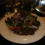 Thai beef and generous salad.
