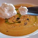 Морковный крем суп, супер! Просто гастрооргазм)