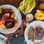 Steak and Sunday Roast with great Salad