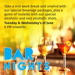 BAR NIGHTS, Tuesday & Wednesday's of June
