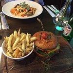 Chicken burger, huge meal for great value
