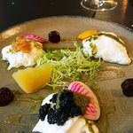 Burratta and Beetroot, with Caviar by Jeremiah Christopher