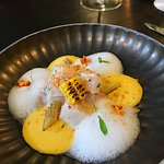 Scallop ceviche by Jeremiah Christopher