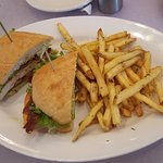 Chicken Club with fries