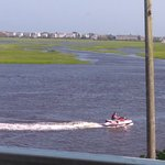 Watersports on the intracoastal waterway near the bridge