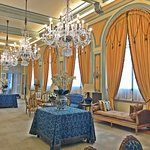 Salon and lounging area of the Avenida Palace Hotel, Lisbon, Portugal by Jeremiah Christopher