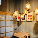 Imagen del interior de la taberna Ramen Shifu, Alicante.