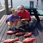 Casey and her dad Mark finished up this part of snapper season with a limit